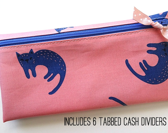 Cat print cash organizer for Dave Ramsey budget