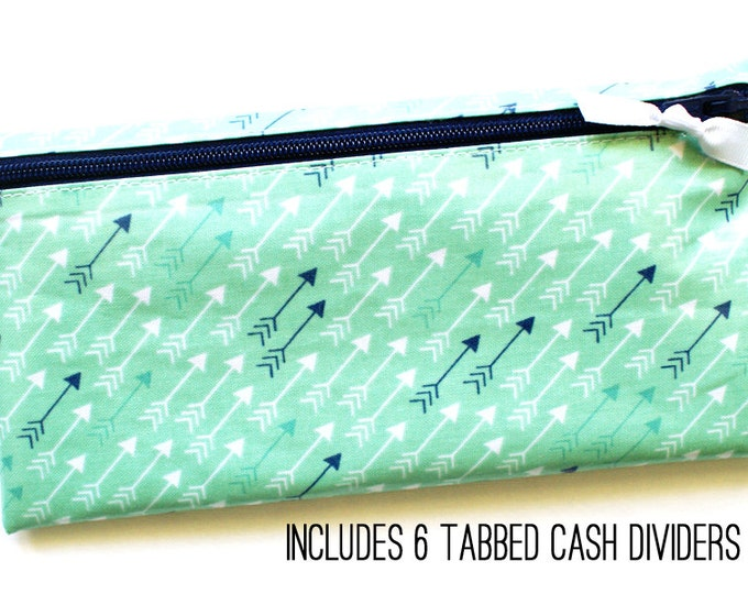 Mint Arrows Dave Ramsey budget cash system wallet with tabbed dividers