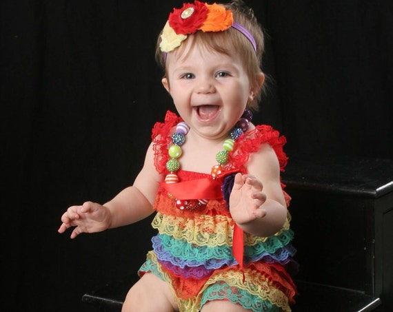 Baby Girl Clothes - Cake Smash Outfit - Baby Girl 1st Birthday Outfit - Baby Girl Rainbow Birthday Dress - 1st Birthday Photo Outfit Rainbow