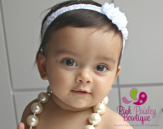 Ivory Pearl necklace, Chunky necklace, Ivory baby necklace, Baptism necklace, girls necklace, Christening Necklace, Baptism Jewelry