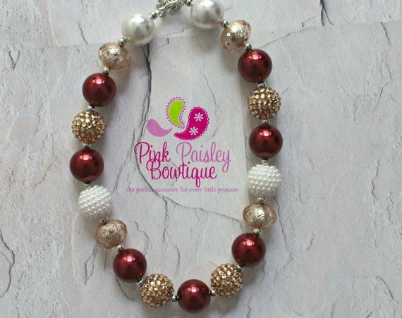 Fall Chunky Necklace, Autumn Bubblegum Necklace, Toddler Necklace, Thanksgiving Jewelry, Girls Necklace, Kids Jewelry, Chunky Bead, Children