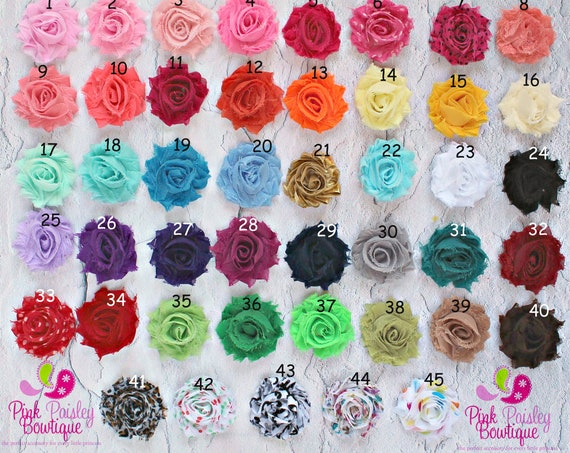 You Pick 5 Mini Shabby Chic Headbands..baby headband.. Infant Headbands - Newborn Headbands - Baby Girl Headbands - Baby Hair Accessories