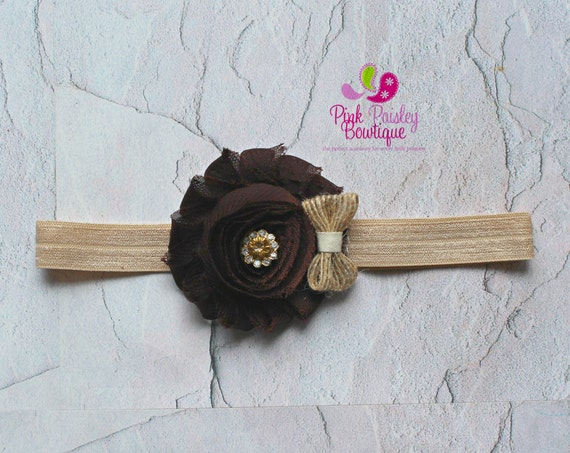 Brown Baby Headband. Fall Hair Bows. Baby Shower Gift. Brown Newborn Hair Bows. Baby hair accessories Baby Hairbows, Baby Bows Baby Girl Bow