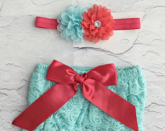 Ruffle Diaper Cover- 6, 8, 9 month Sitter Photos - Baby Girl Photo Outfit- Baby Bloomer Set - Cake smash outfit-Ruffle Baby Diaper cover