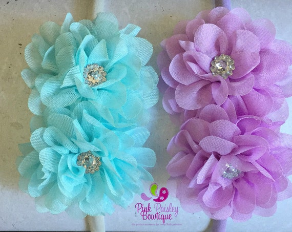 You pick 1 Toddler Headband - Flower Headband - Toddler Hair Accessories - Baby Hair bows - Satin Covered Headband - Toddler Bows