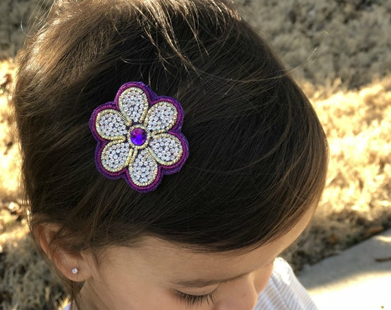 You pick 1 Flower  Clip - Hair Clips - Baby Hair Clips -  Photo Prop -Rhine stone Hair clip-Adult Hairclip