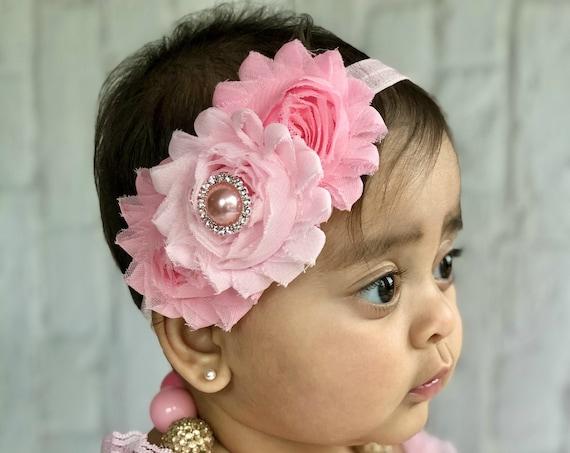 IFFEI Baby Bodysuit Pretty Rose Allover Splice Lace Decor Romper with Headband Set Romper Outfit