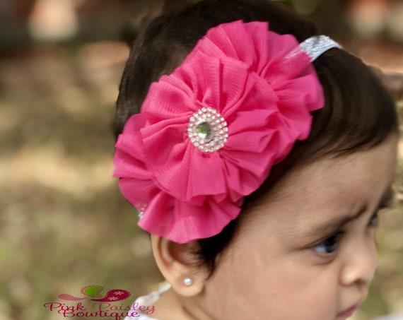 Spring Baby Headband - 11 color choice - Baby Hairbow - Infant Headband - Baby Headband - headband baby - Baby bows - Christmas headband
