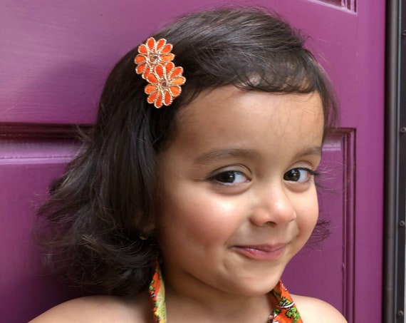 Pick Any 2 Flower Clips - Baby Girl HairClips - Alligator Clips - Baby Girl Hair Bow - Baby Hair Accessories - Baby Hair Bows - Desi Clips