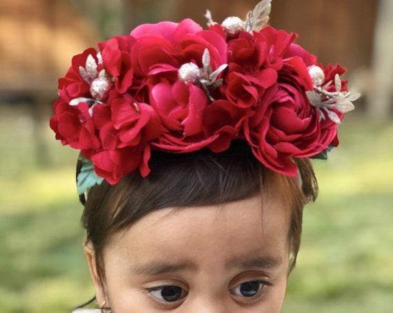 Red x'mas headband  Baby headbands, Baby girl headband, floral nylon headband, flower crown headband, nylon headbands,Newborn headband