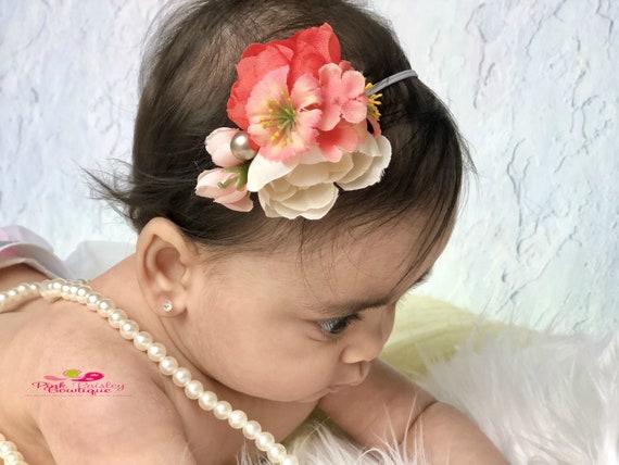 Baby hair clip, Baby girl flower headband, flower crown hair clip , Newborn hair clip, adult hair clip, Hair bows, spring hair clip