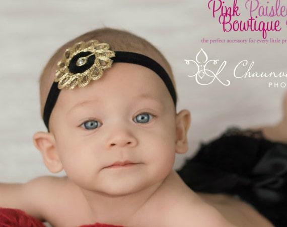 Black Baby Headband - Black Baby Bows - Baby Girl Headbands - Baby Hairbows - Infant Headband - Red Headband - headband baby - Baby bows