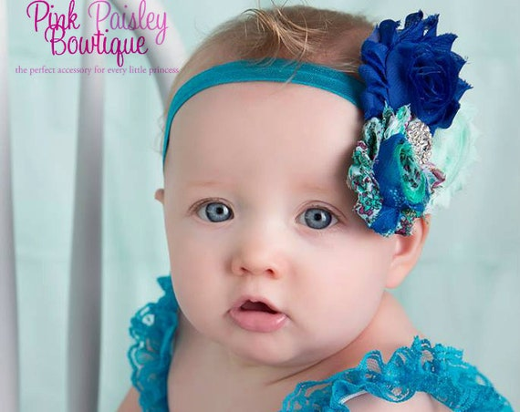 Blue petti lace romper and headband 3 pc SET, Baby girl 1st birthday outfit, Frozen Elsa Dress Outfit, Baby romper, Cake Smash Outfit.