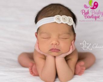 Baby Headband - Newborn Headbands- Baby Girl Headbands - Infant Headband -Baby Hair Accessories - Hairbows - Baby Girl Bows - Newborn Photos
