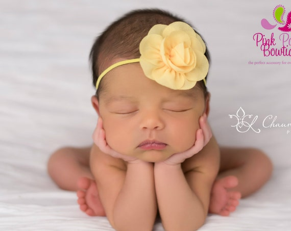 Baby Headband - You pick 1 Chiffon Headband - Lavendar Infant Headbands - Baby Girl Headbands - Baby Hair Accessories - Newborn Headbands