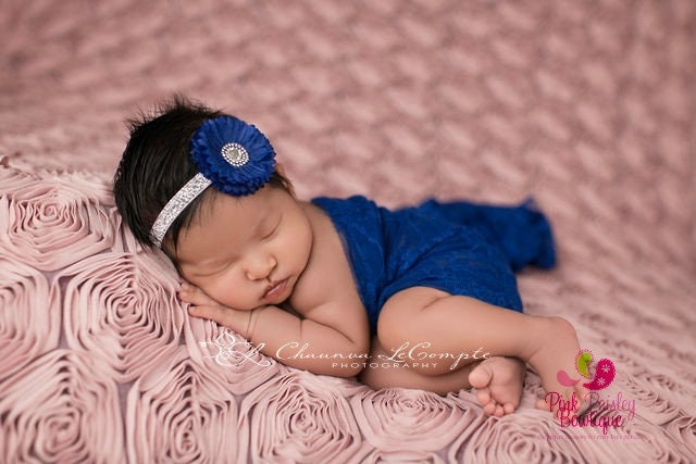 Silver Headband Baby Girl Headband Purple Blue Baby Headbands Blue Hair Bows Dark Blue Headband Baby Hairbows Baby Shower Gift