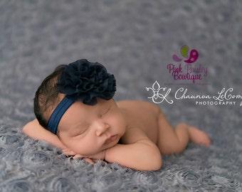 Baby Headband - You pick 1 Chiffon Headband - Navy Infant Headbands - Baby Girl Headbands - Baby Hair Accessories - Newborn Headbands