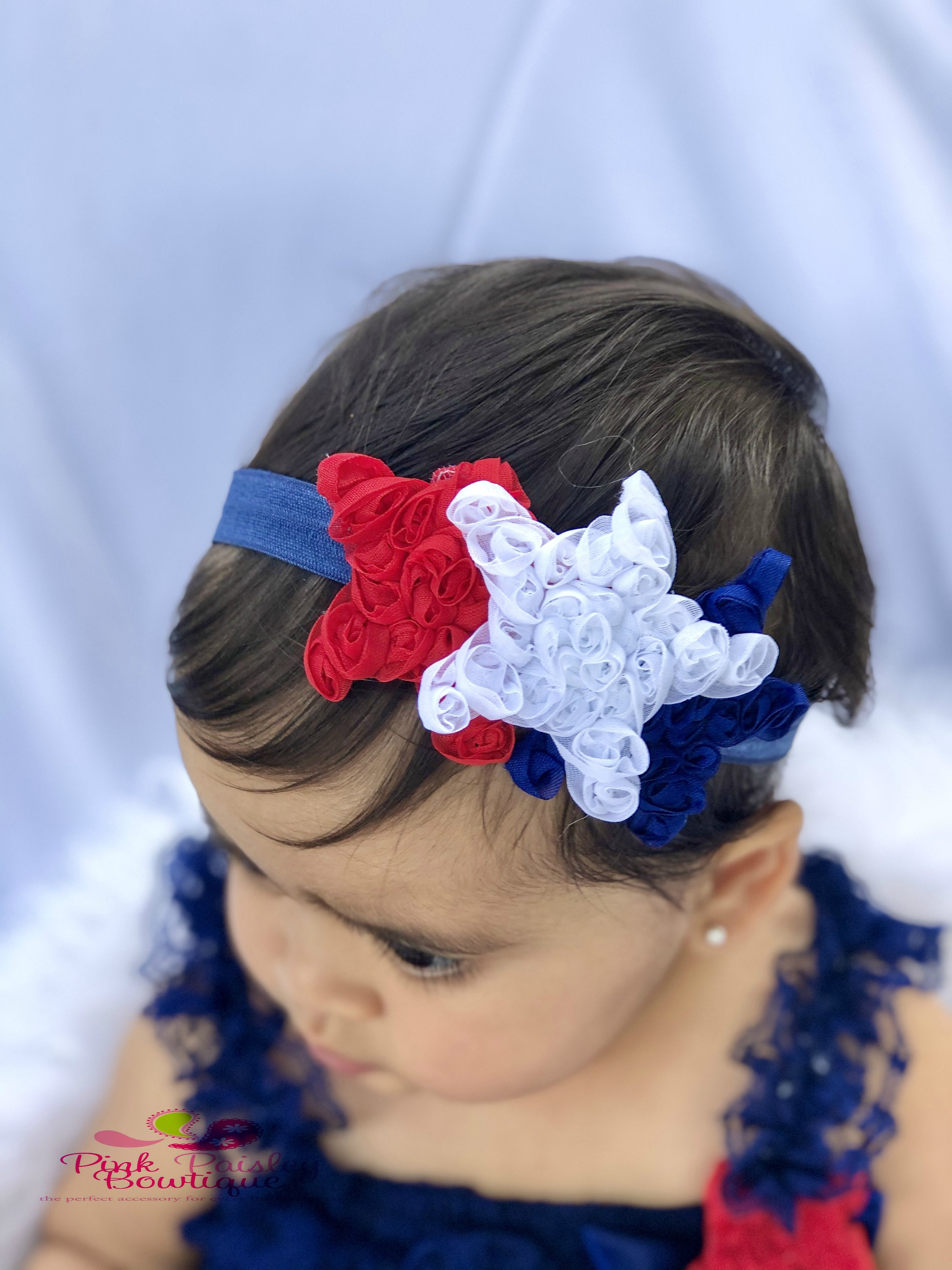 girls hair bow baby headbands toddler bows red glitter party bow Girls Baby 4th of July bow glitter bow pinch bow baby bow