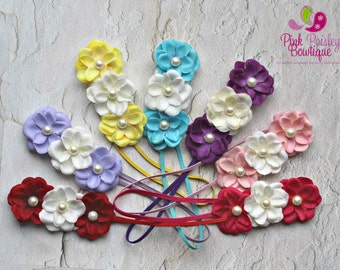 You Pick 1 Baby Headband - 7 colors - Ready to Ship - Baby Hairbows - newborn Headbands - Baby hair accessories - headband baby - Baby bows