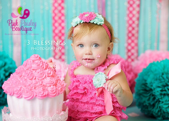 Cake Smash Outfit, Pink Baby girl 1st birthday outfit, Mint Princess Birthday, Newborn Photo Outfit, Birthday Dress, 1st Birthday tutu
