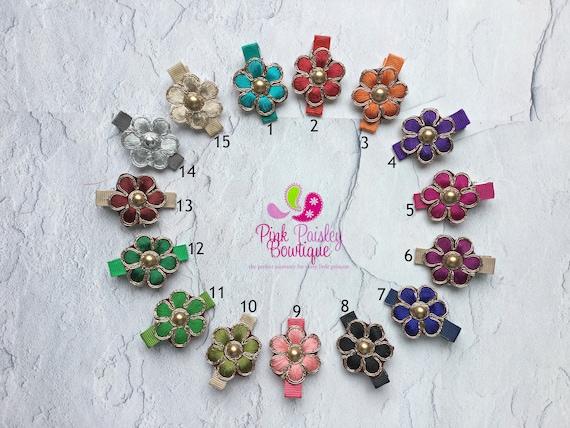 Pick 1 Flower Alligator Clip. Baby girl hair clips. baby girl hair bows. baby hair accessories. Baby hair clips. Baby Bows, Baby Hairbows