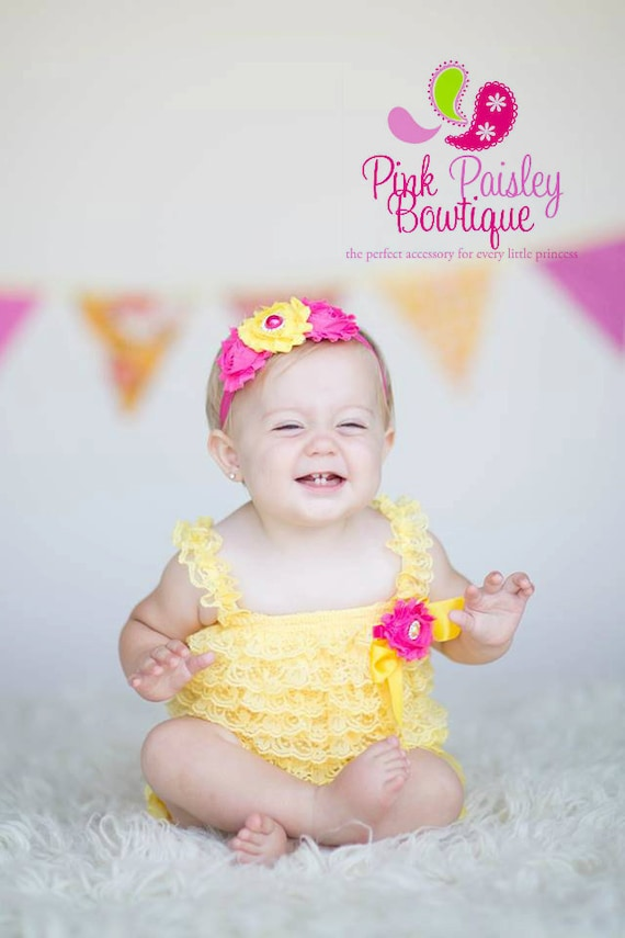 Baby Girl 1st Birthday Outfit - Cake Smash Outfit- Flamingo party - Baby Romper - You are my Sunshine Birthday Outfit Tropical 1st Birthday