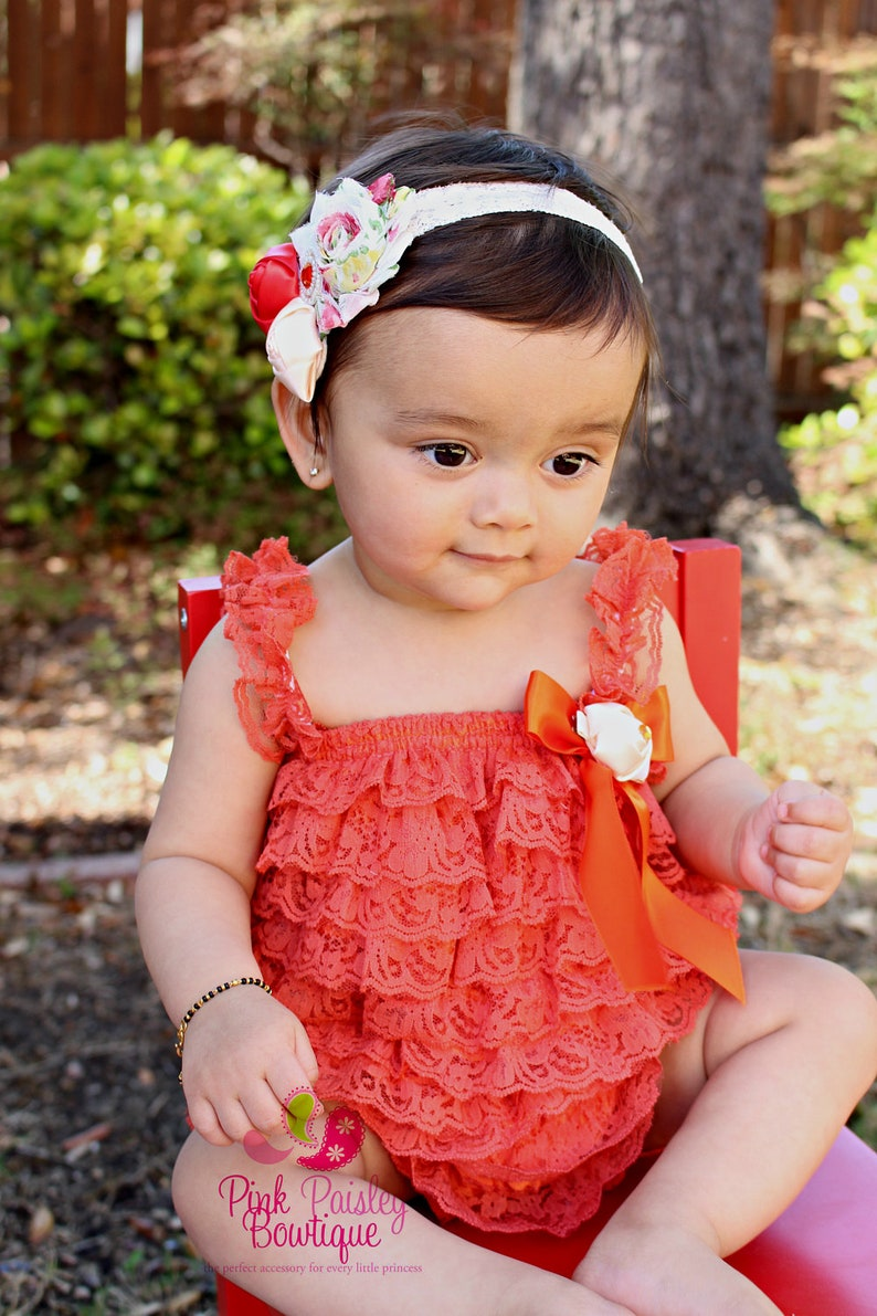 e8872c327 Halloween Outfit Lace Romper Petti Romper Ruffle Baby   Etsy