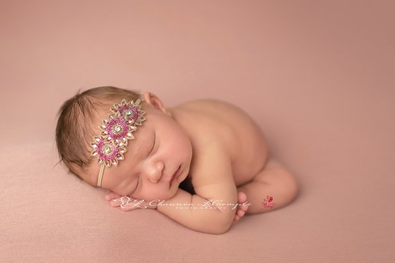 You choose 1 from 5 color Baby Headbands - Infant Headbands - Newborn Headband - sparkly  Headband. Baby Hair Accessories - Baby Hairbows