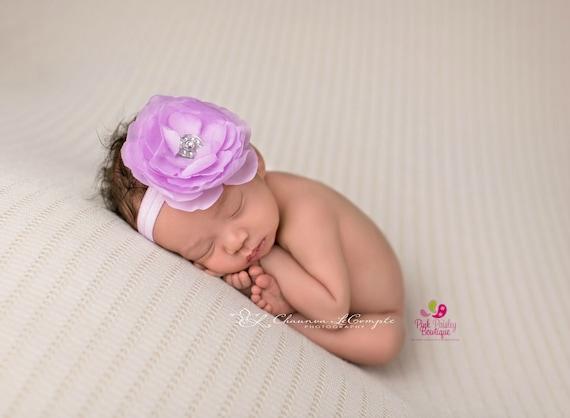 Lavender Infant headbands, baby headbands,  baby hair accessories, Lavender  headbands, baby girl headbands, birthday headbands