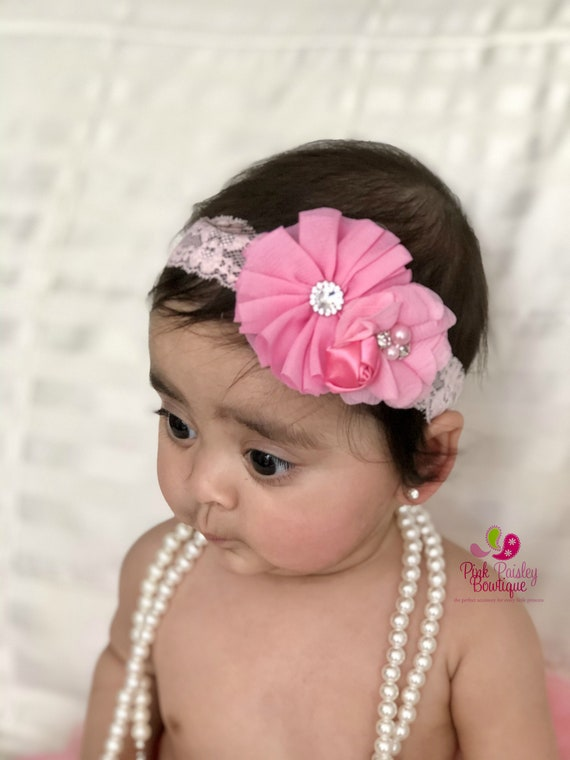 Baby girl bows, baby girl headband, baby girl hair accessories, pink hairbows, Baby shower gift, baby bows pretties, hair ties girl headband