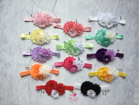 You Pick 1 headband - Baby Girl Headbands - baby headbands - Baby Hair Accessories - Toddler Hairbows - Photo Prop - Infant Headband