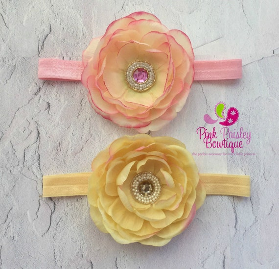 YOU PICK 1 Baby headbands .Baby girl headbands. baby hair accessories. Baby shower gift.  Infant headbands. Newborn headbands.