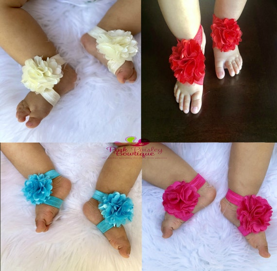 You pick 1 Baby Shoes - Baby Barefoot Sandals - Toddler Sandal - Newborn Sandal - Newborn Shoes - Baby Sandals - Baby Girl Barefoot Shoes