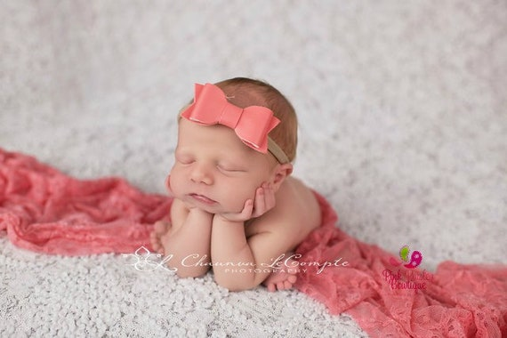 Baby Headband - Leather Bow headband - Baby Girl Headbands -YOU PICK 1- Newborn headbands - Baby Hair Accessories  Toddler Hairbows Baby Bow