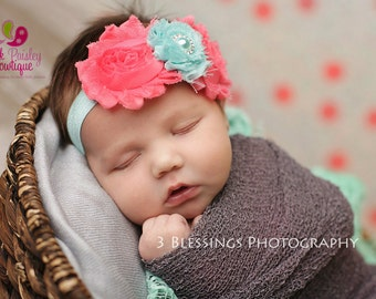 Baby Headband - Newborn Headbands - Infant headband - Baby Hair Accessories - Couture Baby Girl Headband - headband baby