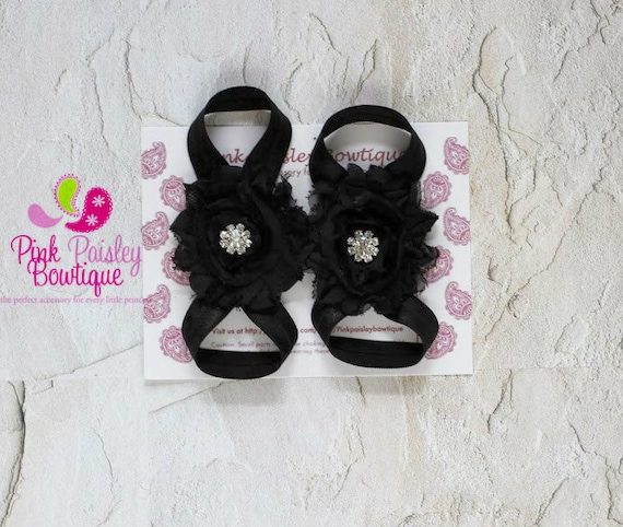 Baby Barefoot Sandalas with RHINESTONES - Toddler Sandal - Newborn Sandal - Newborn Shoes - Baby Sandals - Baby Girl Barefoot Shoes
