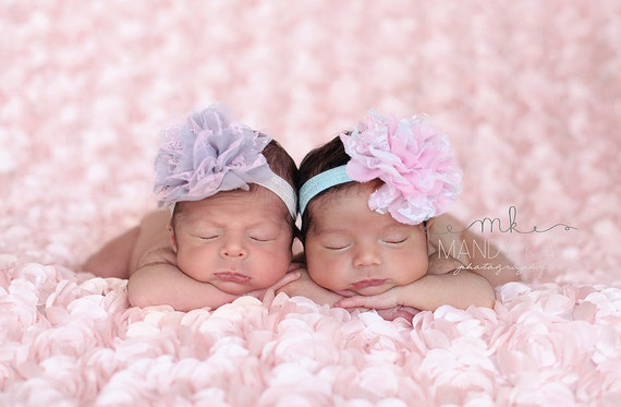 Baby Headbands - You pick 2 Lace Newborn Headband - Infant Headbands - Baby Girl Headbands - Baby Hair Accessories - Baby Hairbows -  Bows