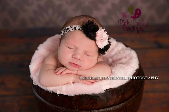 Baby Headband - Newborn Headbands - Infant headband - Baby Hair Accessories - Couture Baby Girl Headband - headband baby - Shabby Chic bows
