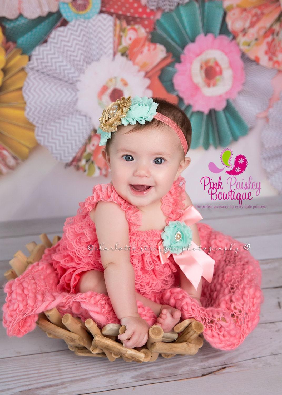 Cake Smash Outfit - 3, 4, 5 Pc Set- Baby Girl 1St Birthday -2161