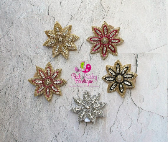 Pick Any 1 Flower Clips - Baby Girl HairClips - Alligator Clips - Baby Girl Hair Bow - Baby Hair Accessories