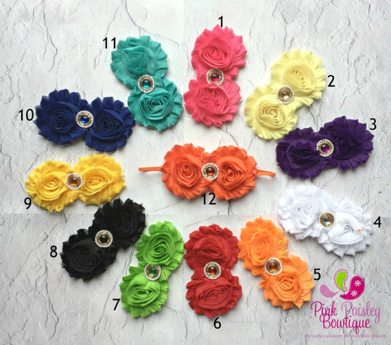 You Pick 1 Baby Headband - Double Shabby Headbands - Infant Headband- Baby Hair Accessories - Newborn Headband - Baby Shower Gift.