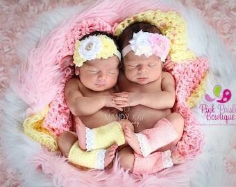 Shabby Baby Headband - Newborn Headbands - Infant headband - Baby Hair Accessories - Baby Girl Headbands - headband baby - Shabby Chic bows