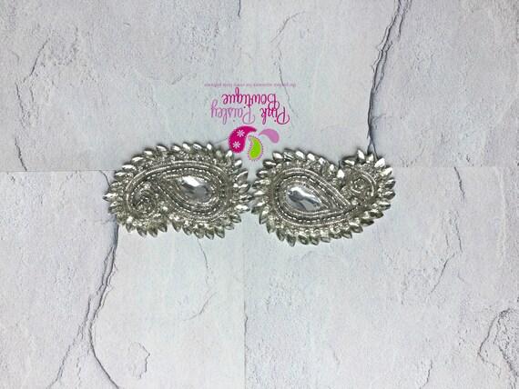 1 Paisley Clip -Silver color - Baby Girl HairClips - Alligator Clips - Baby Girl Hair Bow - Baby Hair Accessories - Baby Bows -