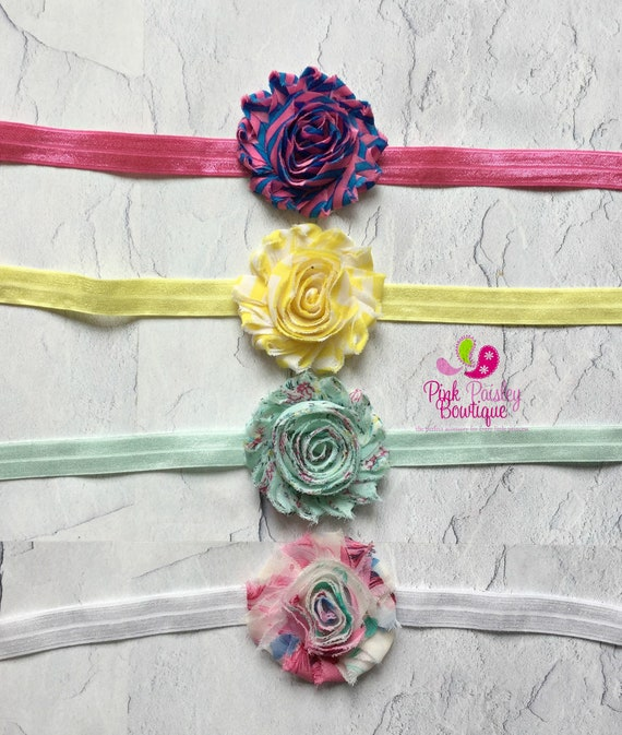 15% off ur order- CLEARANCE Baby Headbands - Set of 4 Baby Bows - Vintage Headbands - Baby Girl Headband-Newborn Bows - Baby Girl Hairbows