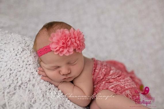 Coral Baby Headbands - Newborn Headbands - Baby Shower Gift -Baby Girl Headbands -Infant Headband- Baby Hair Accessories - Baby Hair Bows