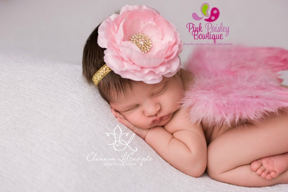 Mint and Gold Baby Headband - You Pick 1 - Pink and Gold 1st Birthday - Baby Hairbow - Pink & Gold Bows - Gold Bows - Baby bows  Aqua Gold