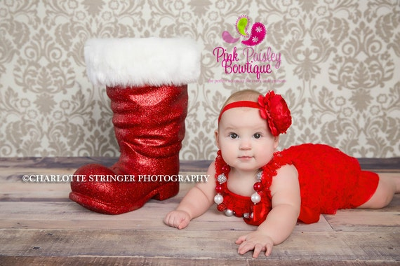Red Christmas Dress, Baby girl 1st birthday outfit, Christmas Outfit, Baby romper, Cake Smash Outfit, Baby Girl 1st Dress, Red Romper