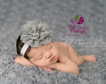 Baby Headband - You Pick 1 Lace Infant Headband from 36 color - Newborn Headbands- Baby Girl Headbands - Baby Bows -Baby Hair Accessories