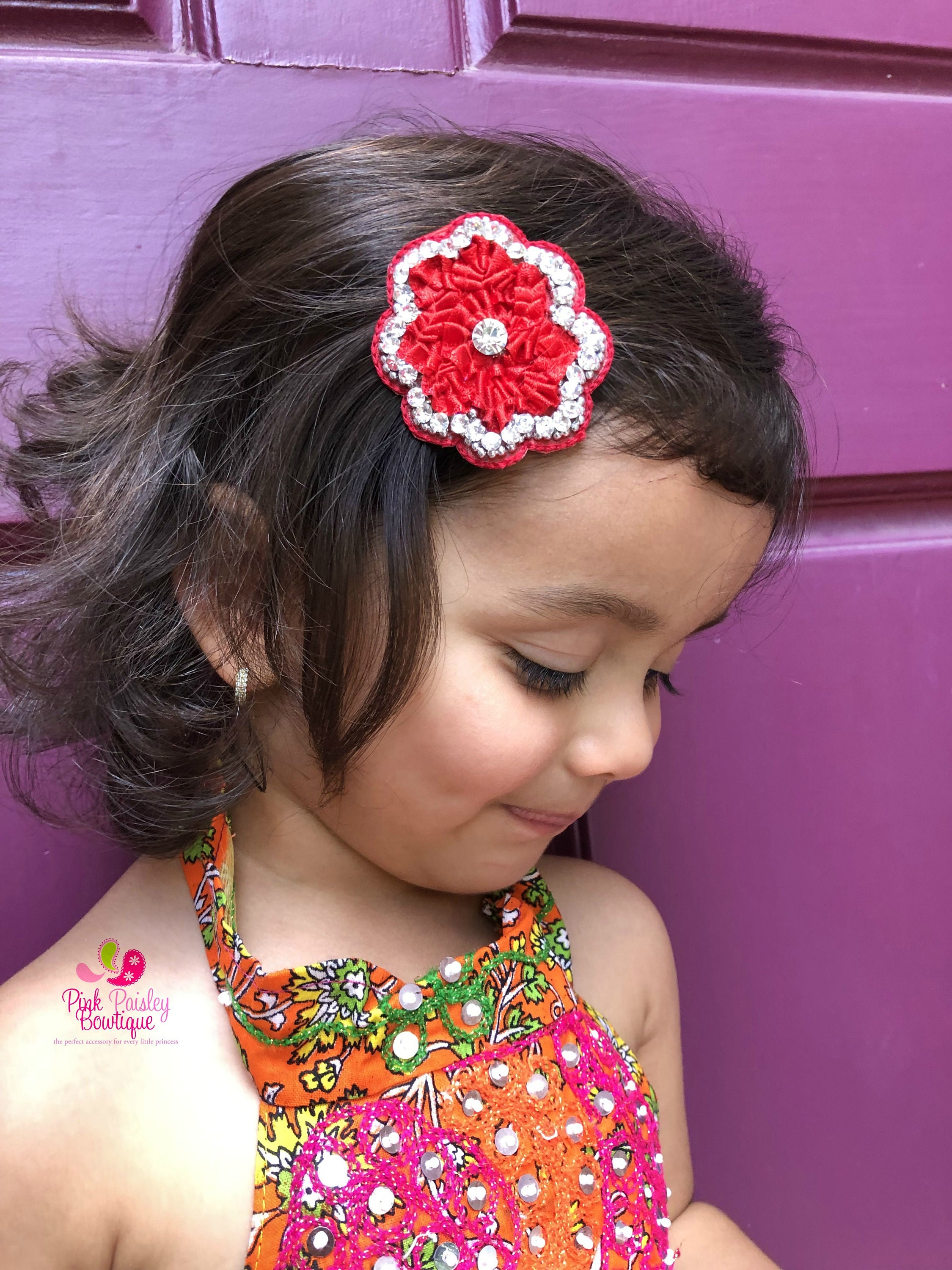 Alligator Clips Baby Girl HairClips Pick Any 2 Flower Clips Baby Hair Accessories Baby Girl Hair Bow