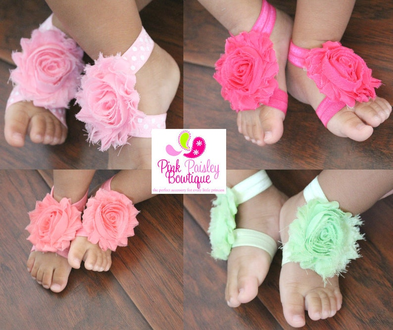 Baby Shoes  Baby Barefoot Sandals  Toddler Sandal  Newborn image 0